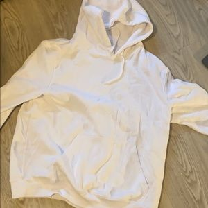 H and m white hoodie size xl